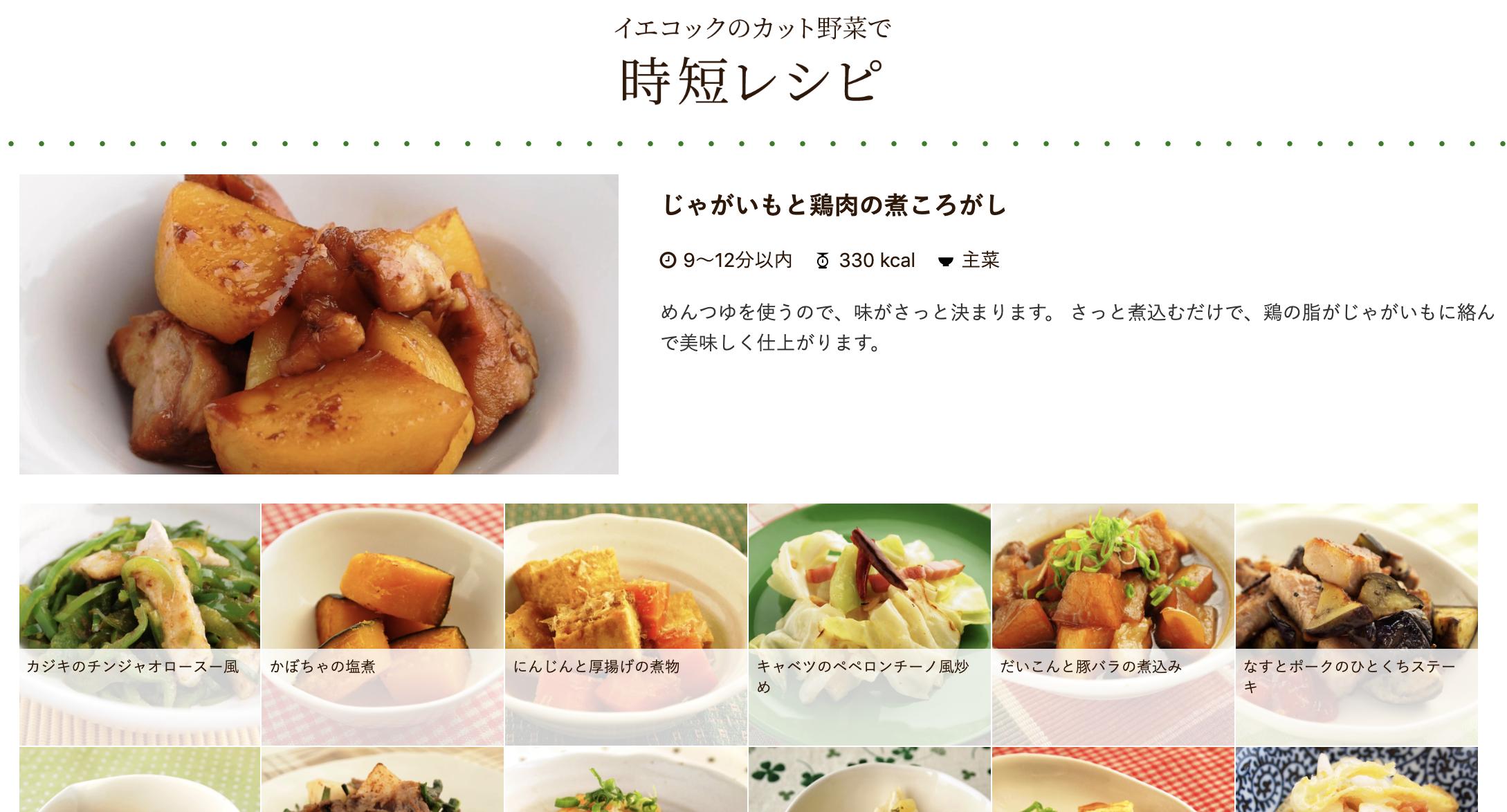 レシピの例