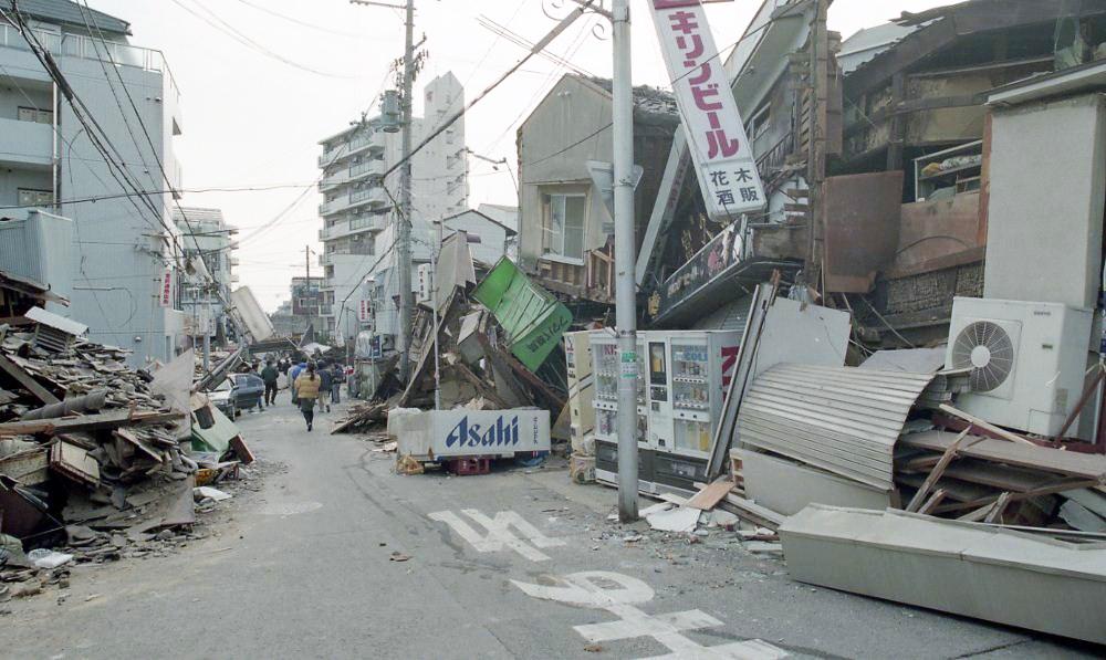 震災後の神戸の様子