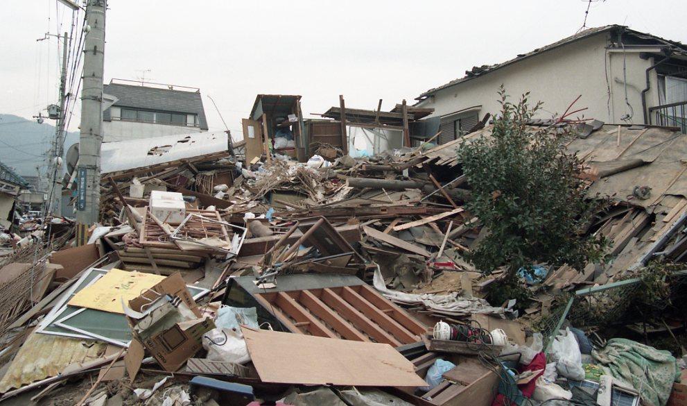 神戸市の震災後の様子